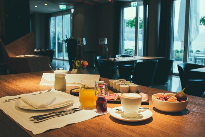 Frühstück im Parkt Hotel Vitznau in der Schweiz