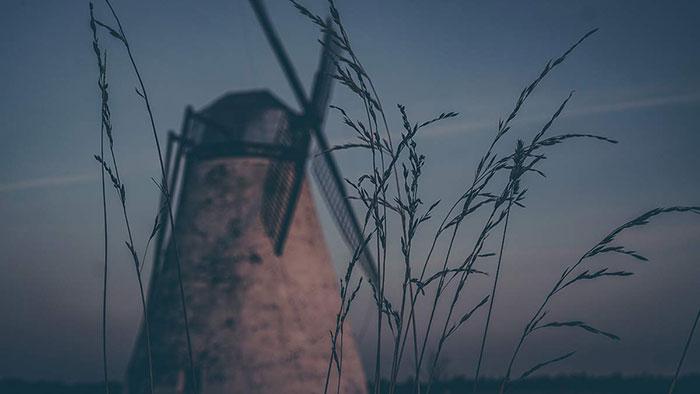 Mühle Sonnenuntergang