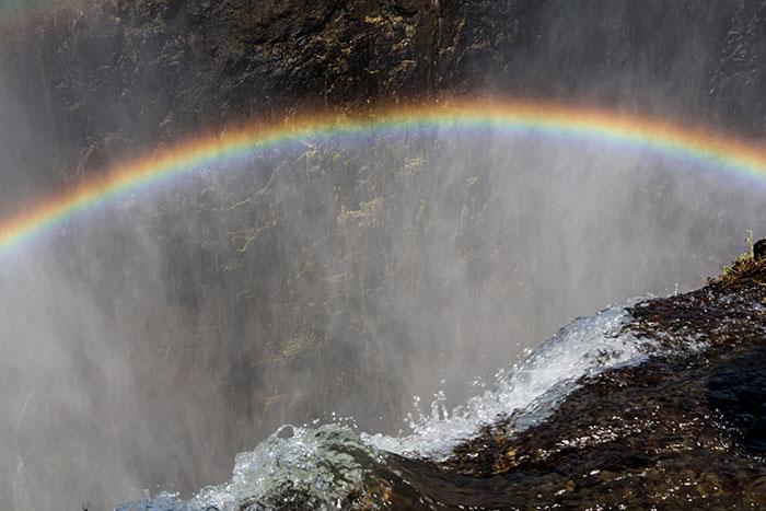 Regenbogen Sambia Viktoriafälle