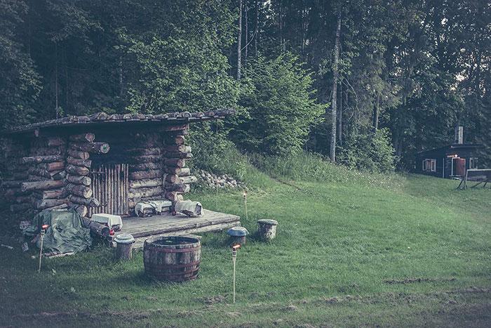 Sauna im Wald