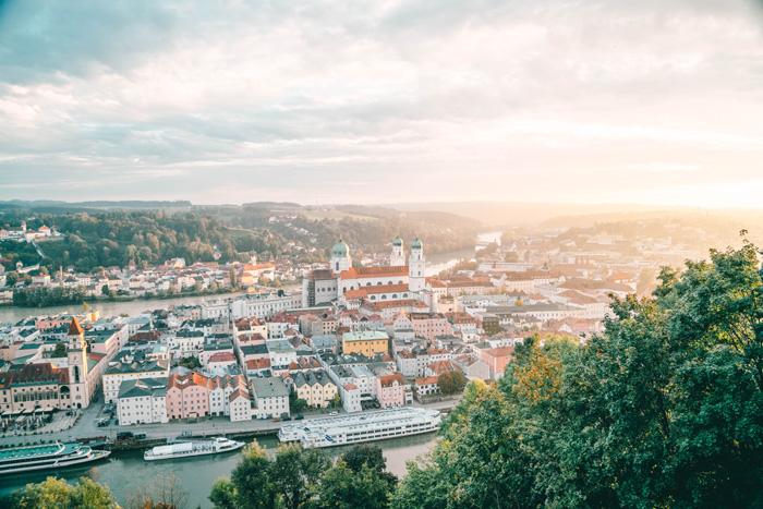 Sonnenuntergang Passau