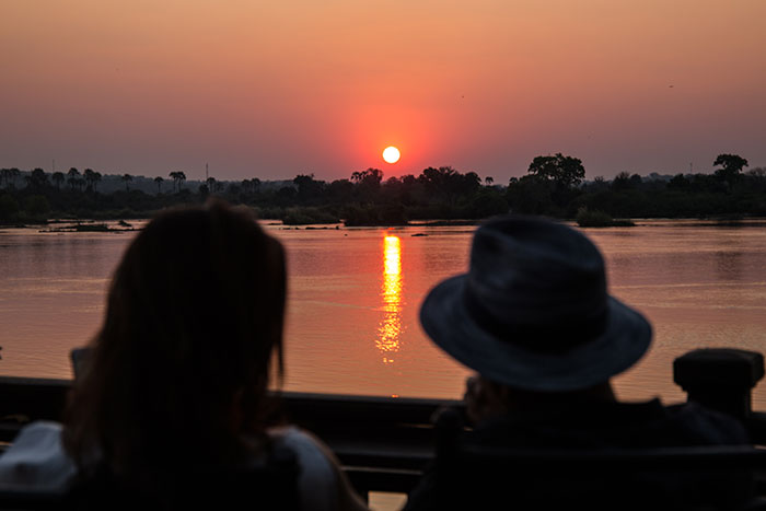 Sonnenuntergang Royal Livingstone