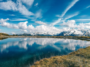 Speichersee am Penkenjoch in Tirol