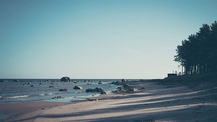 Strand Aussicht Estland