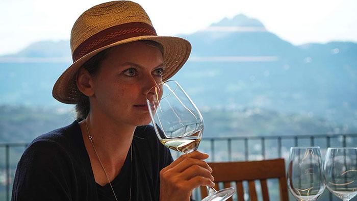 Weinverkostung Christine