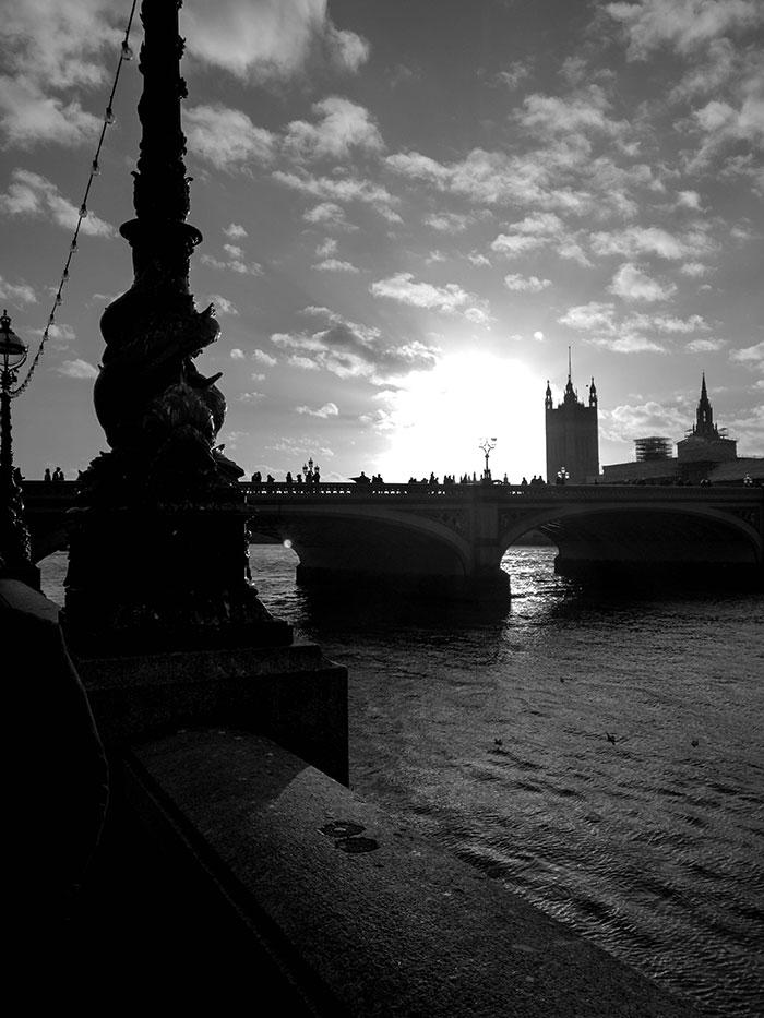 London schwarz weiß