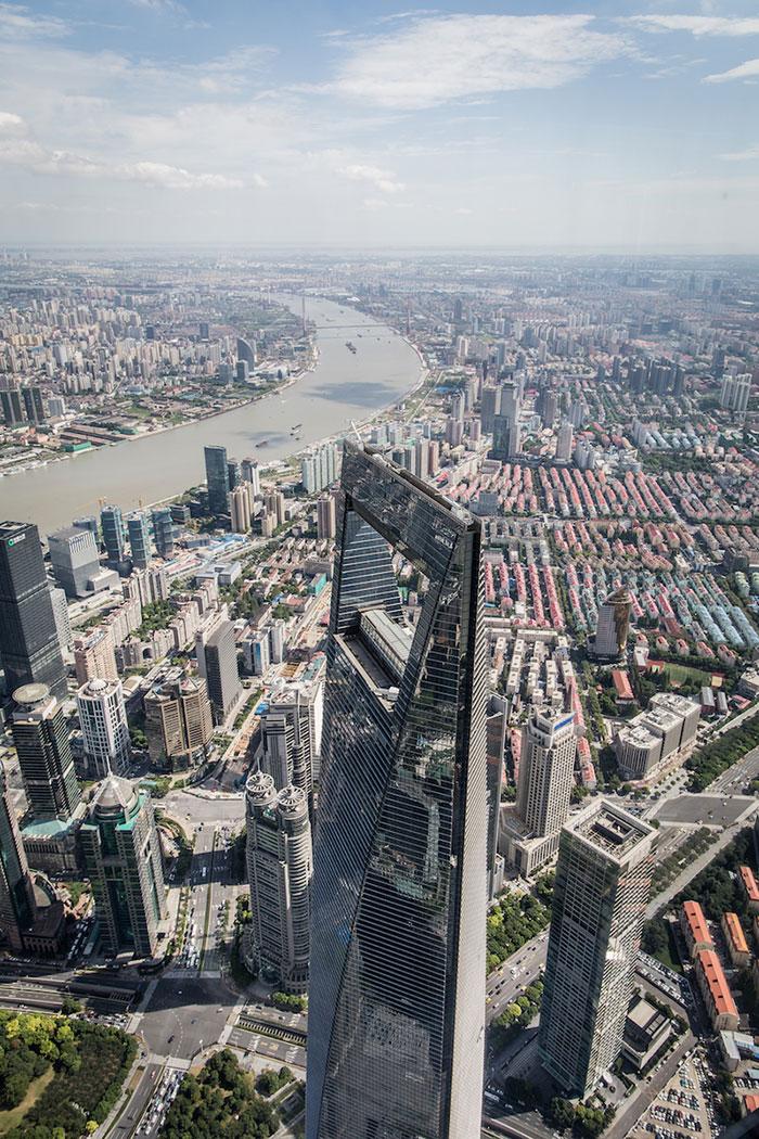Blick vom Shanghai Tower