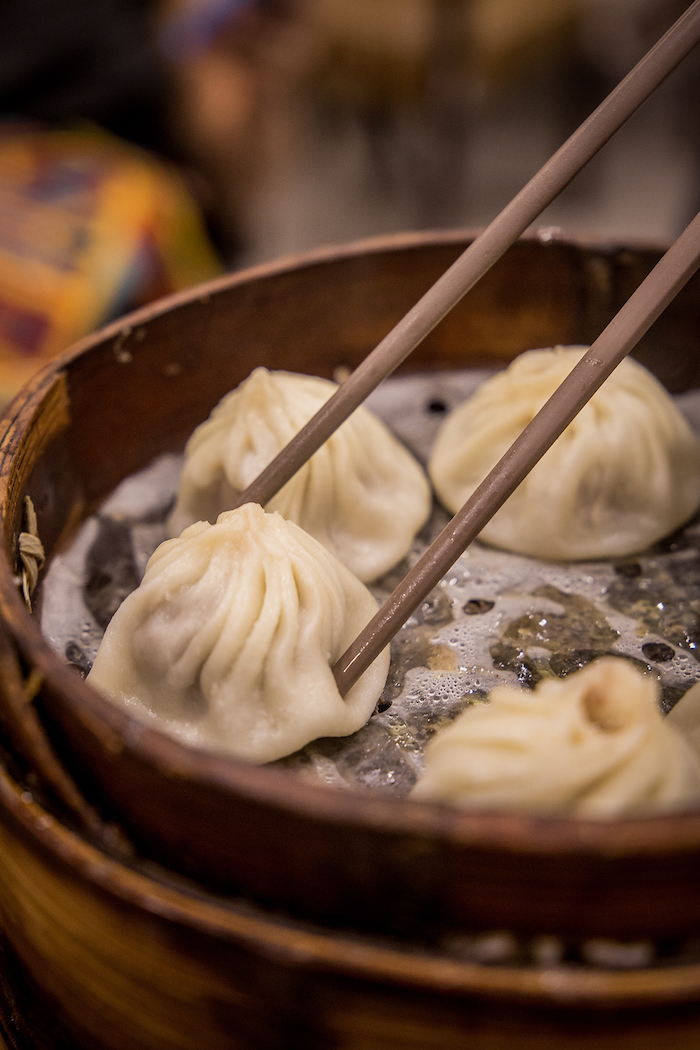 Dumplings im Nanxiang Steamed Bun Restaurant Shanghai