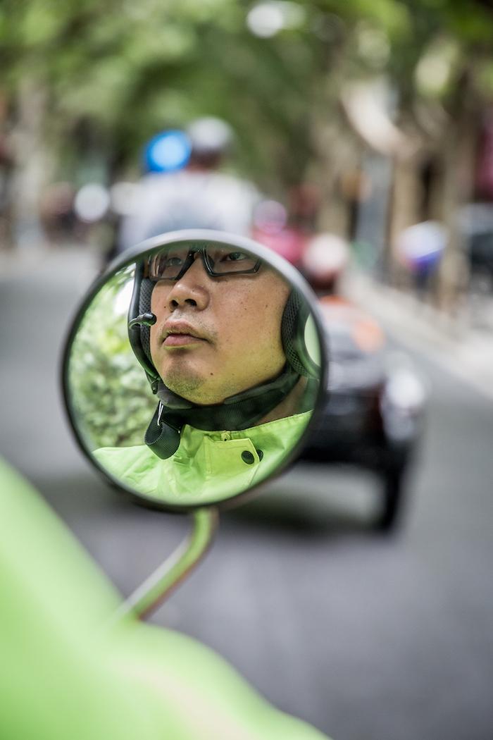 Fahrer bei Harley-Tour durch Shanghai