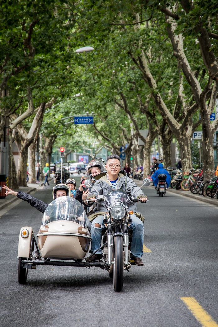 Harley-Tour durch Shanghai