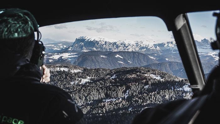 Helikopterflug Obereggen
