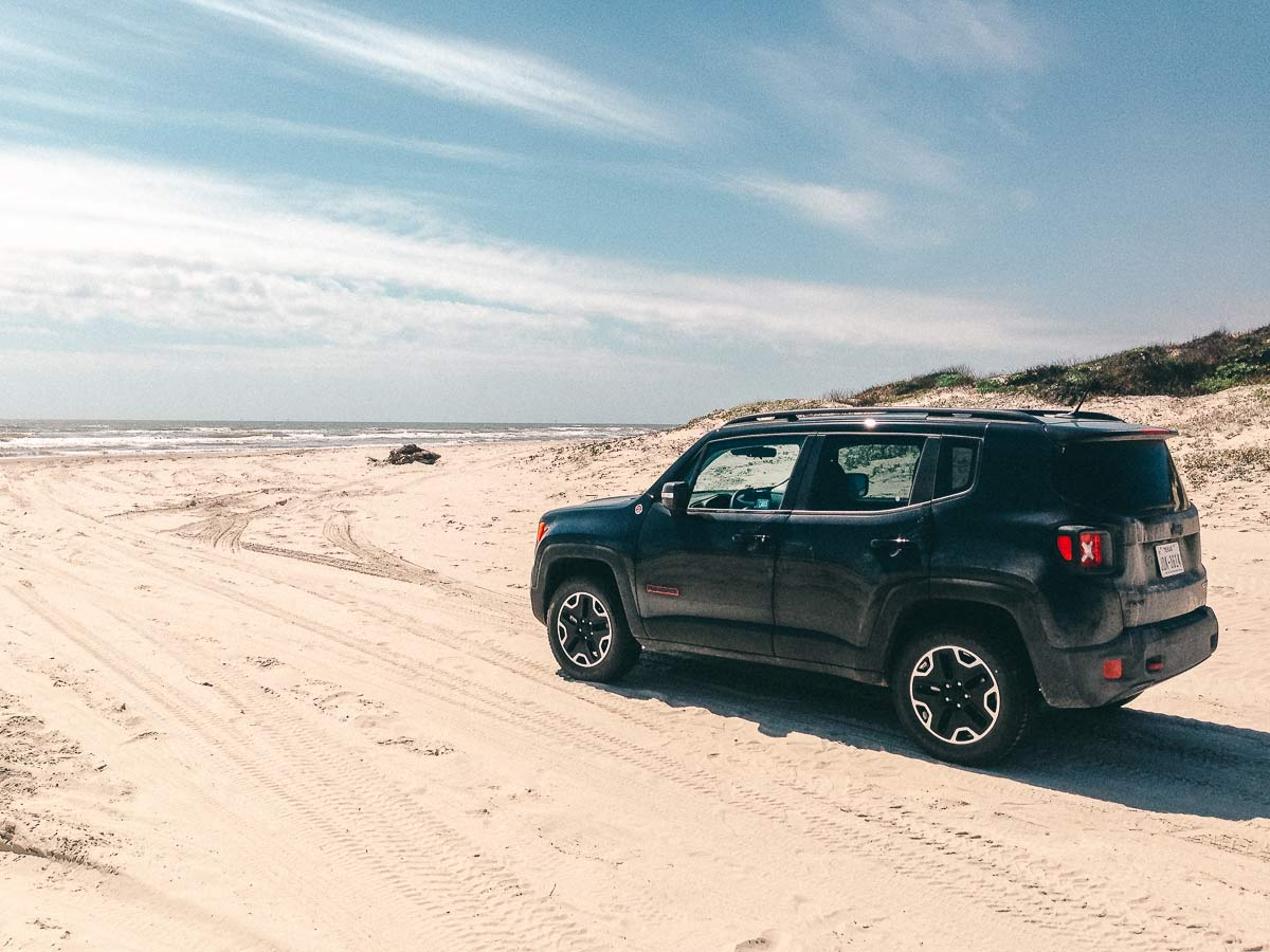 jeep am strand usa