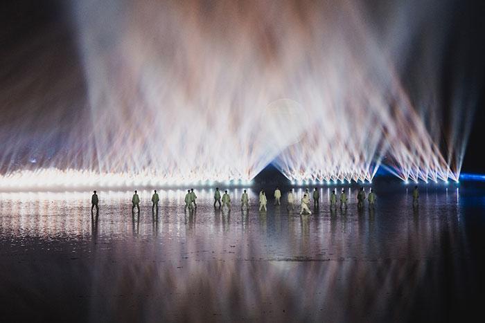 Lichtershow Westsee Hangzhou