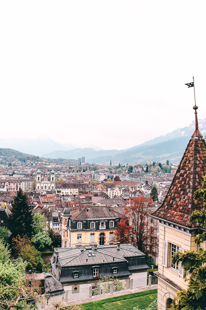 Ausblick auf die Stadt Luzern von oben