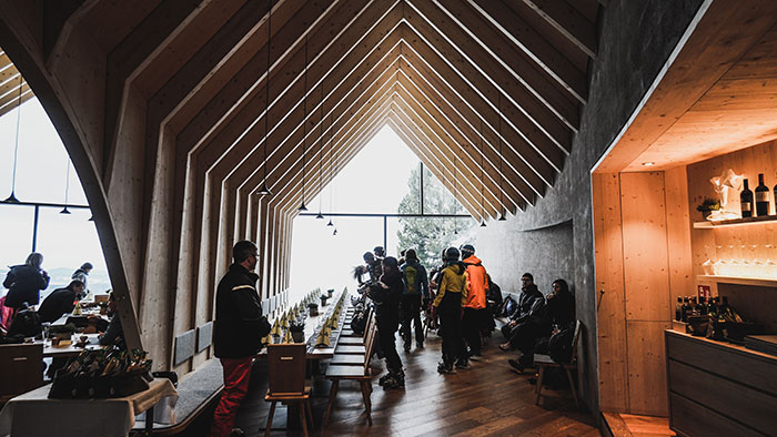 Oberholz Restaurant innen