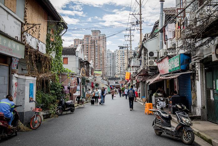 Strassenszene Shanghai Altstadt