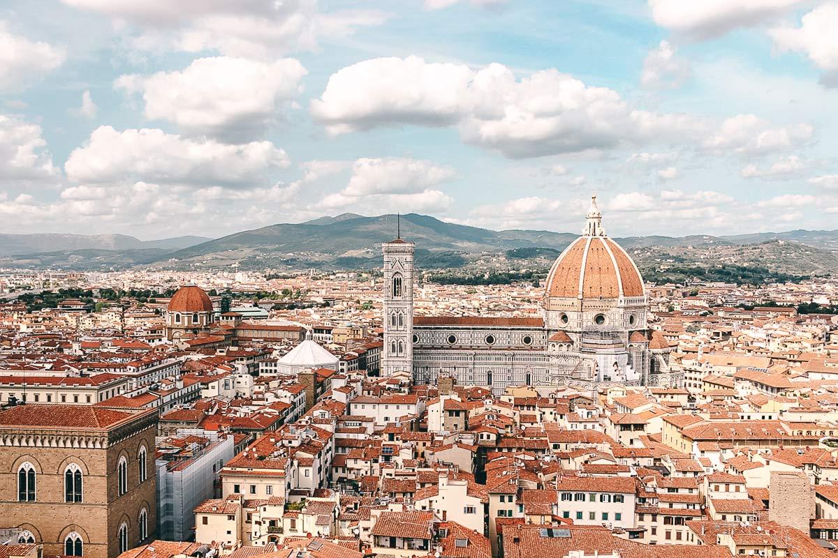 Ausblick Palazzo Vecchio Florenz