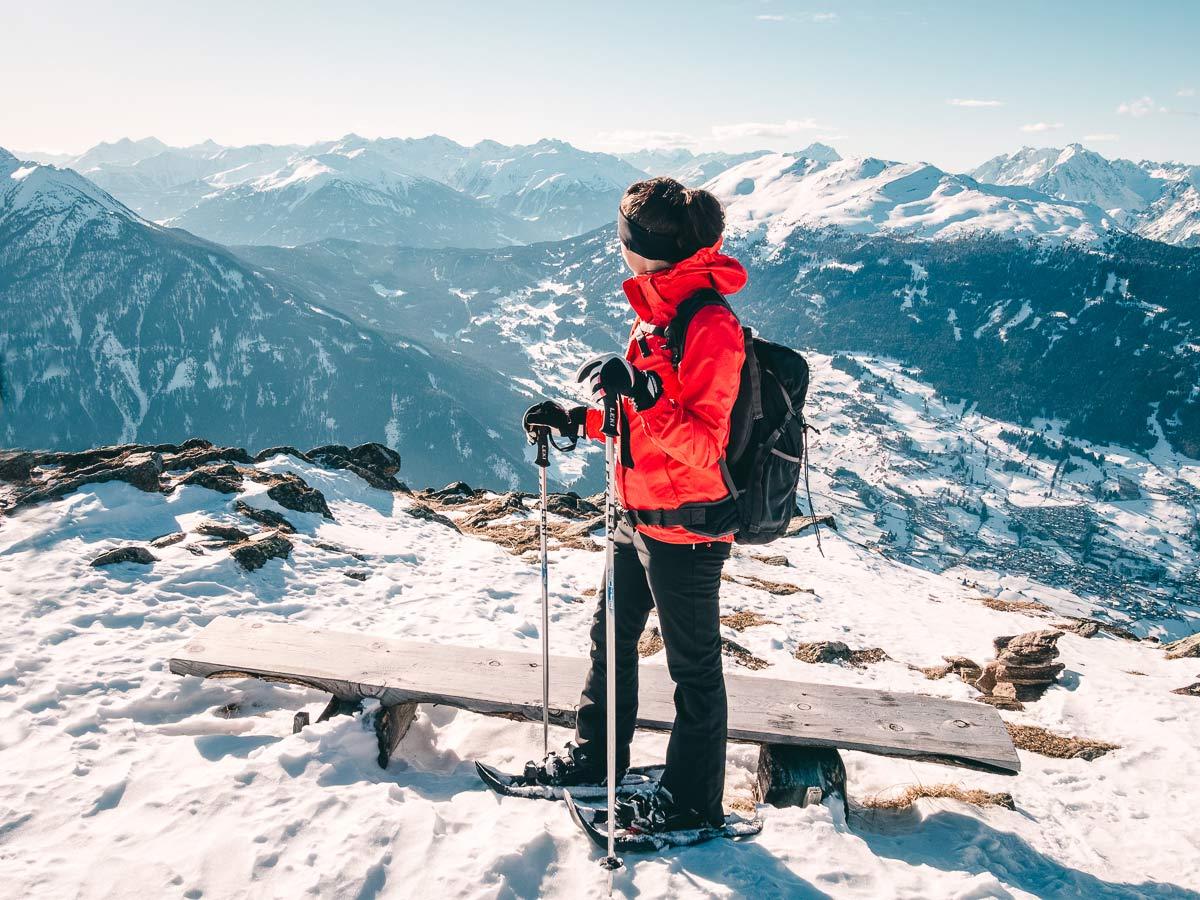 Aussicht Skigebiet Hochzeiger