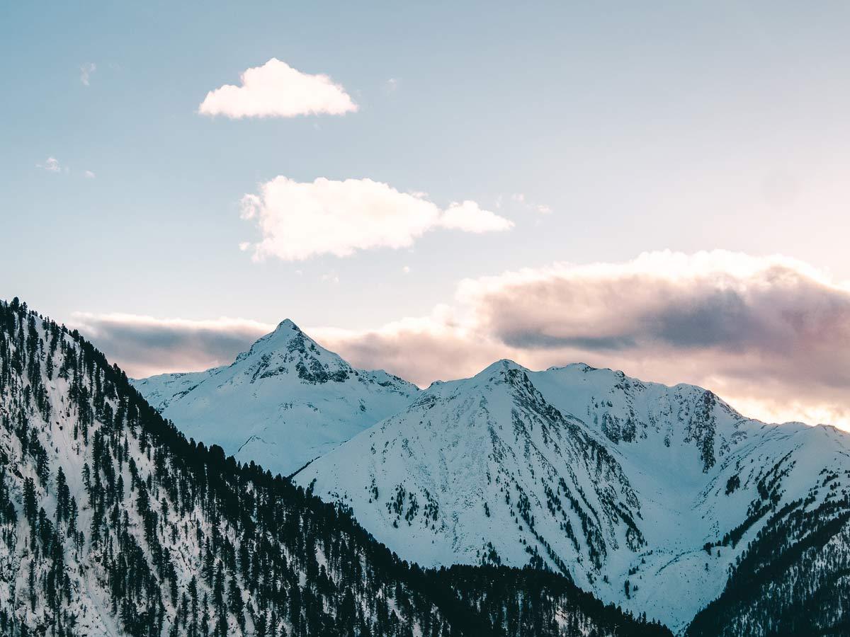 Berge Skigebiet Hochzeiger