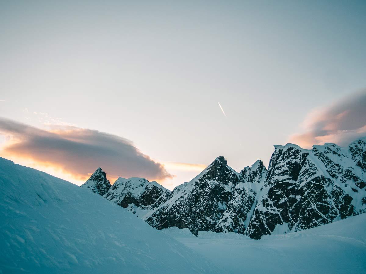 Berglandschaft im Skigebiet Hochzeiger