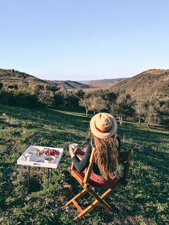 Breakfast airbnb Wohnung Portugal