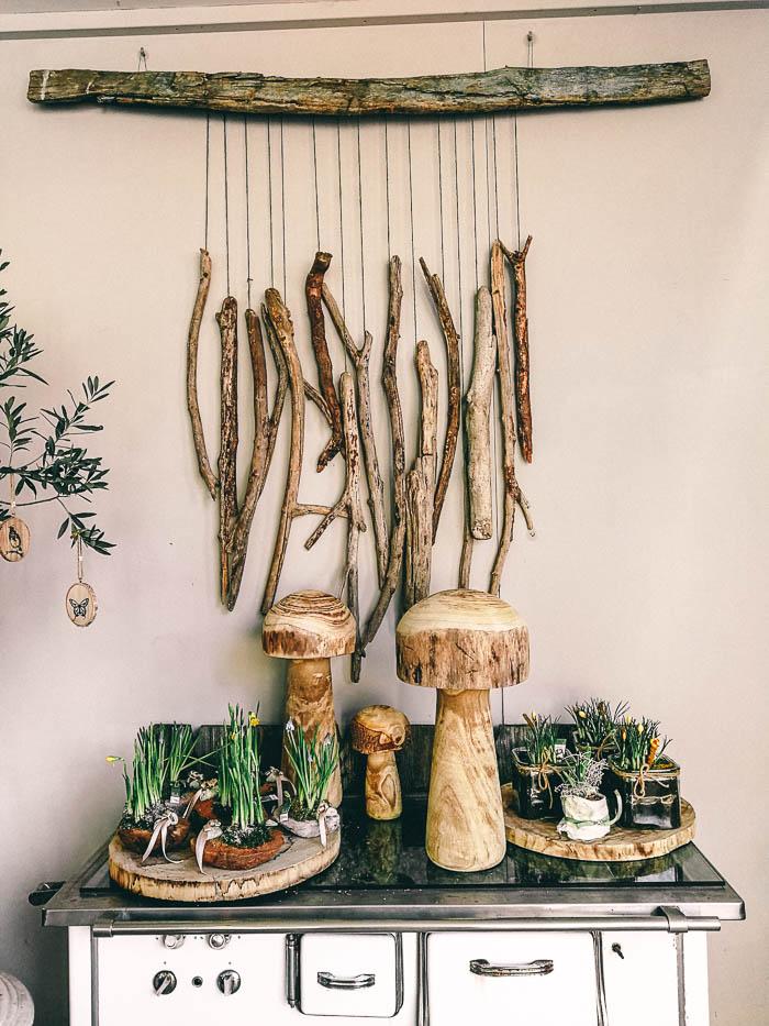 dekoration mit holz