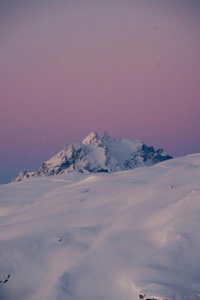 Laax Violetter Himmel