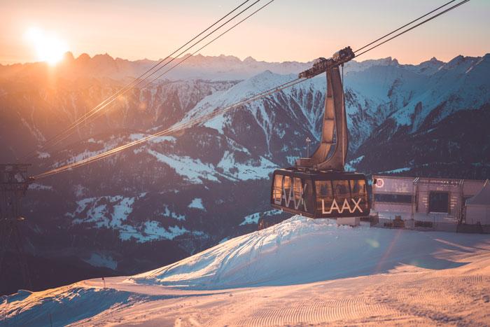 Skilift Skigebiet Laax