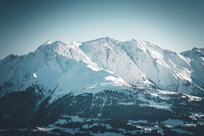 Berglandschaft Skigebiet Laax