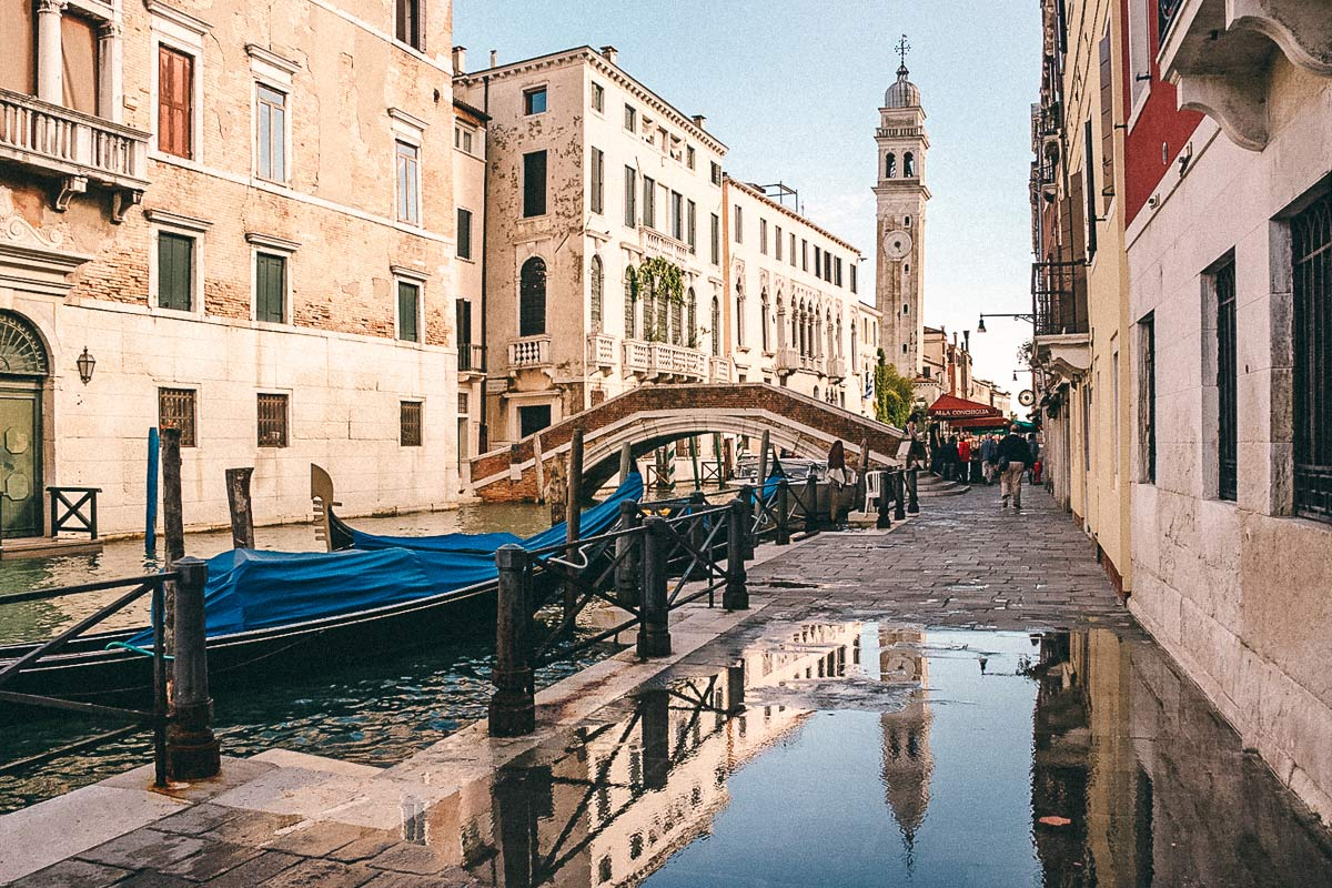Gasse Venedig Regen