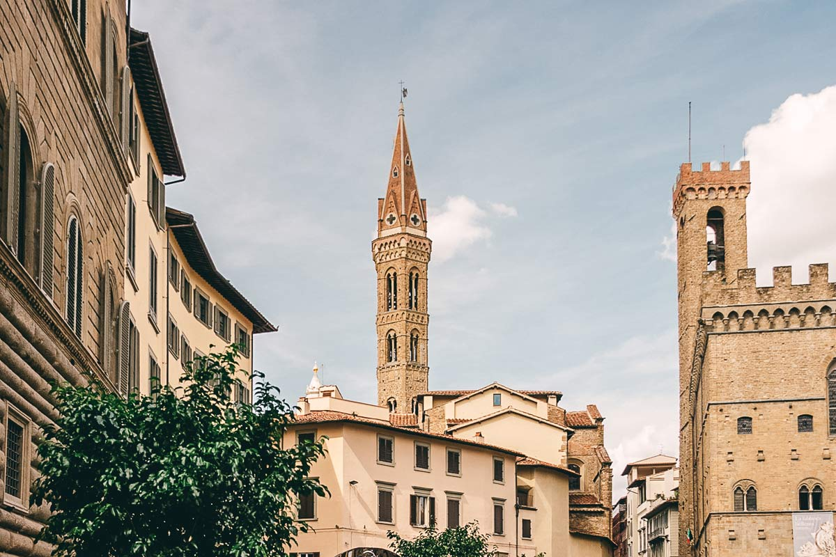 Gassen Florenz Norditalien