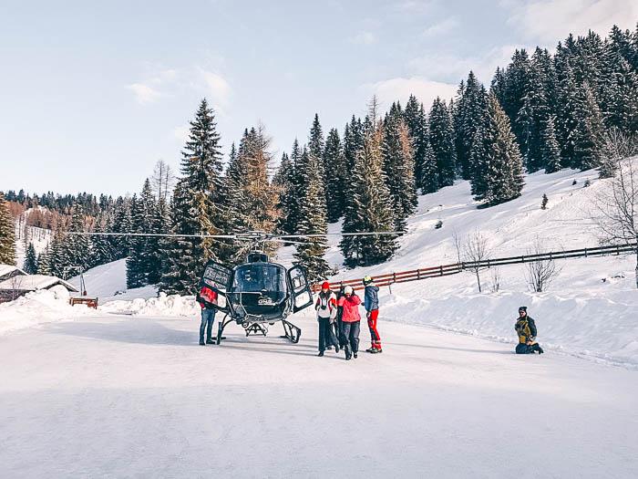 Helikopterflug Carezza