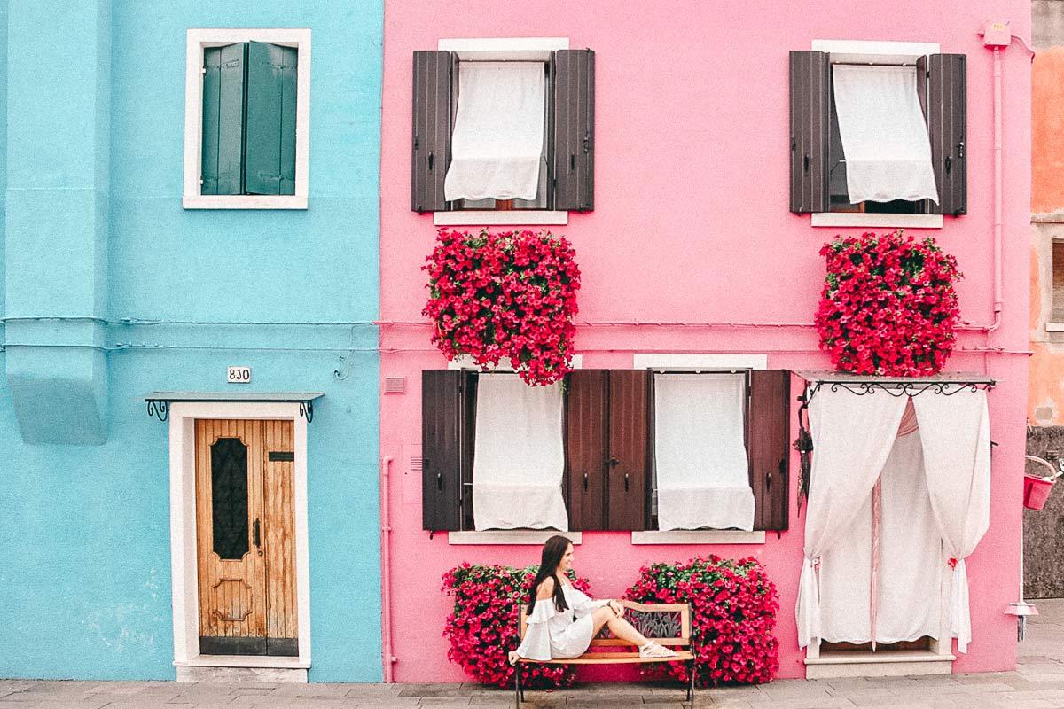 Insel Burano Venedig