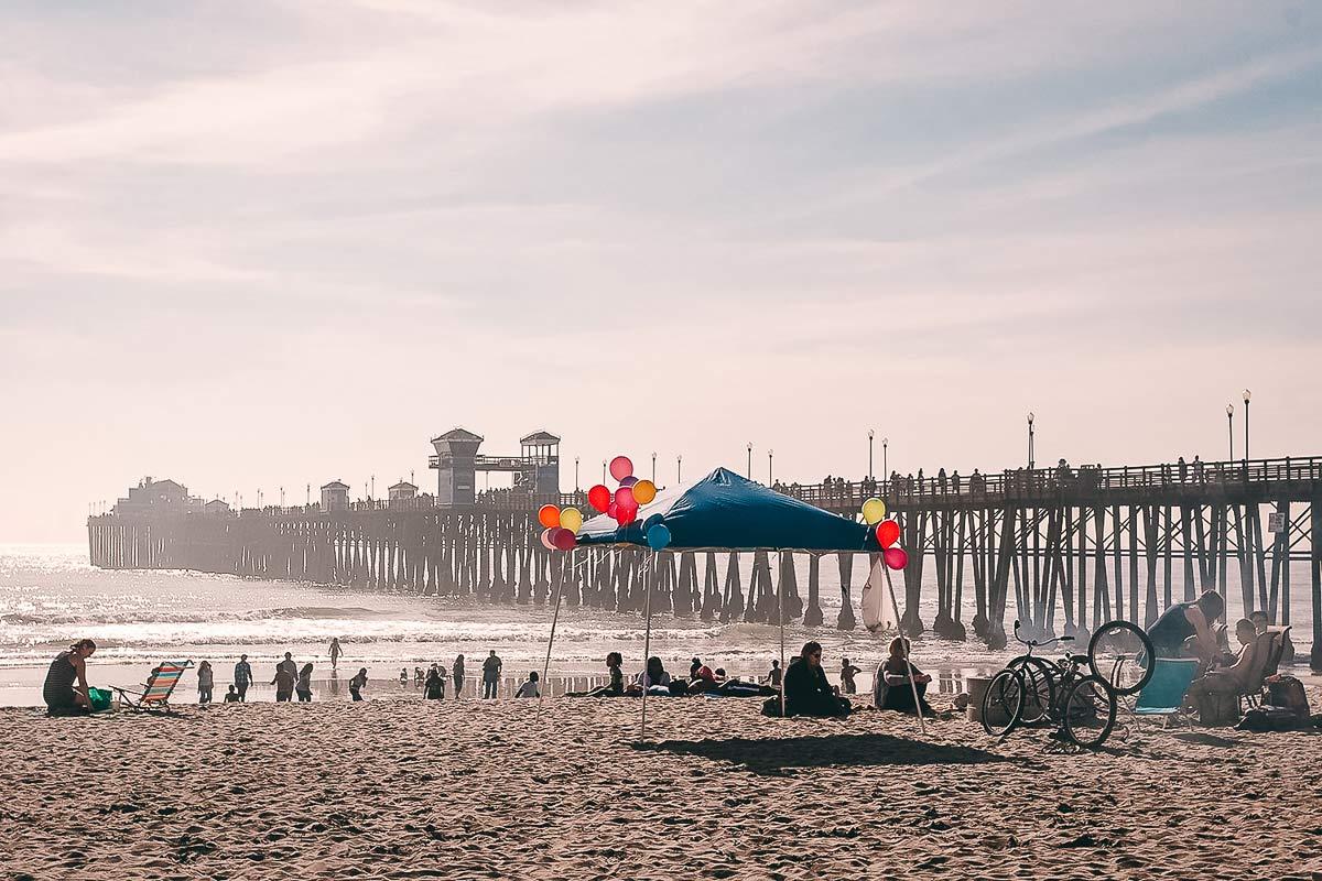 Kalifornien Oceanside Strand