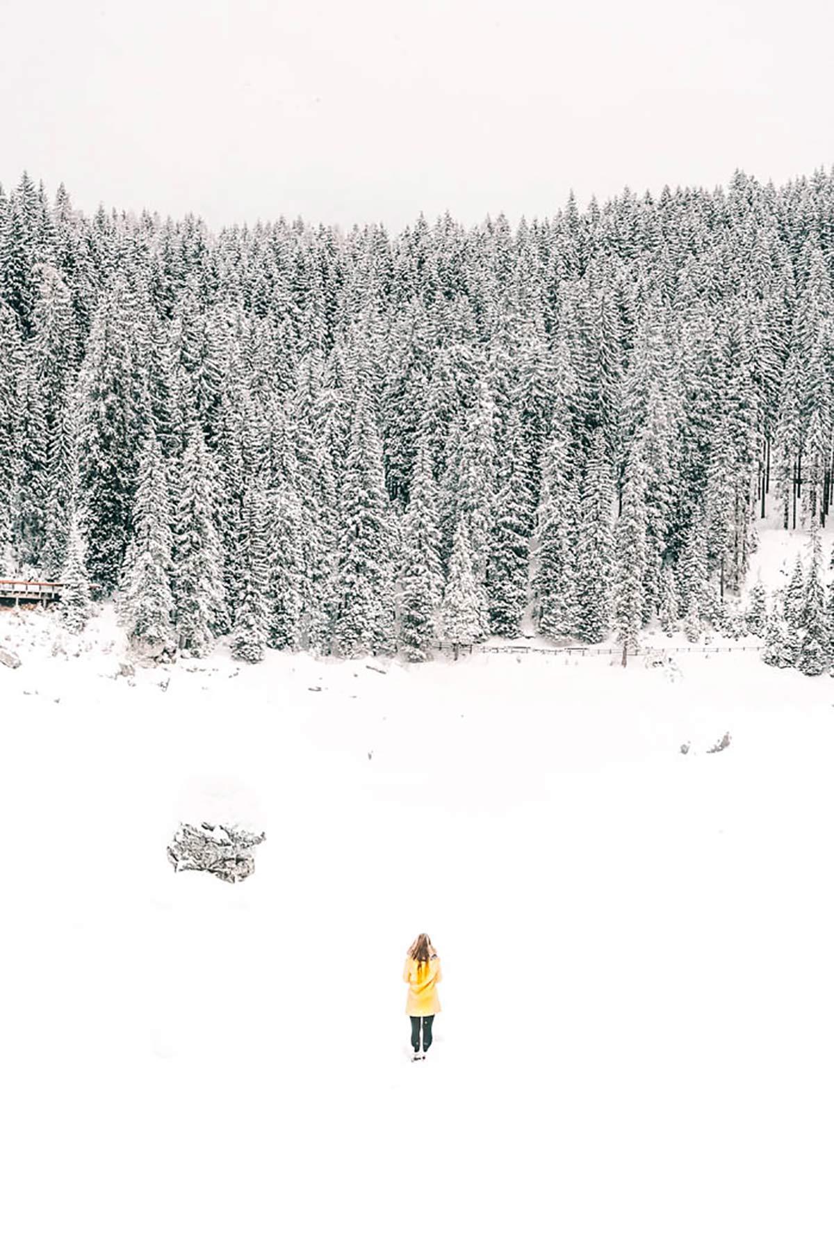 Karersee Winter