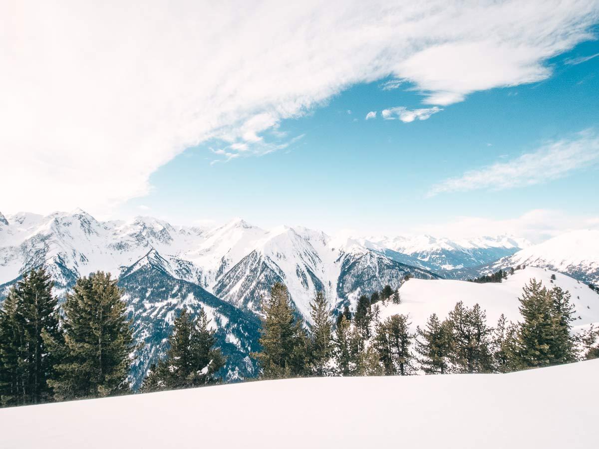 Landschaft Skigebiet Hochzeiger