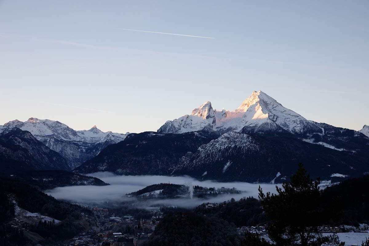 Marxenhöhe Watzmann Nebel