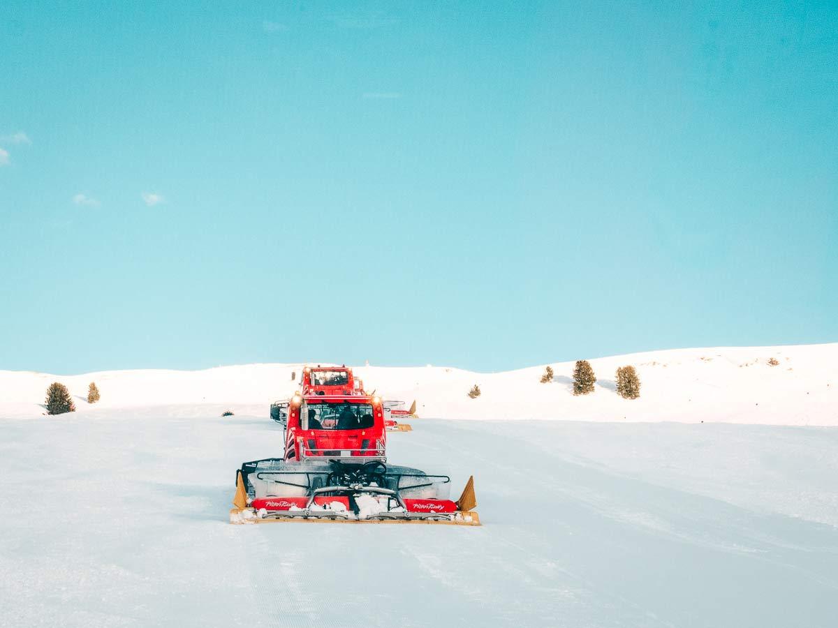 Pistenraupe Skigebiet Hochzeiger