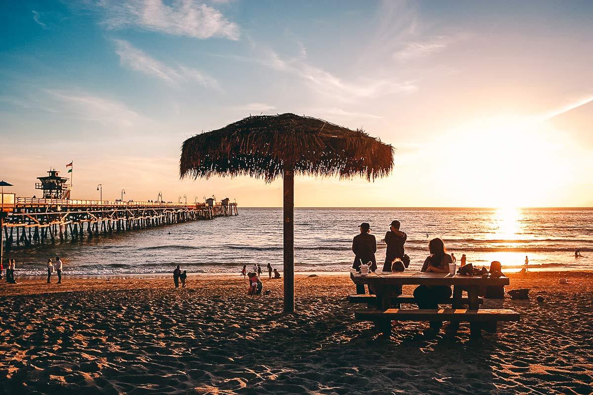 San Clemente Strand in Kalifornien