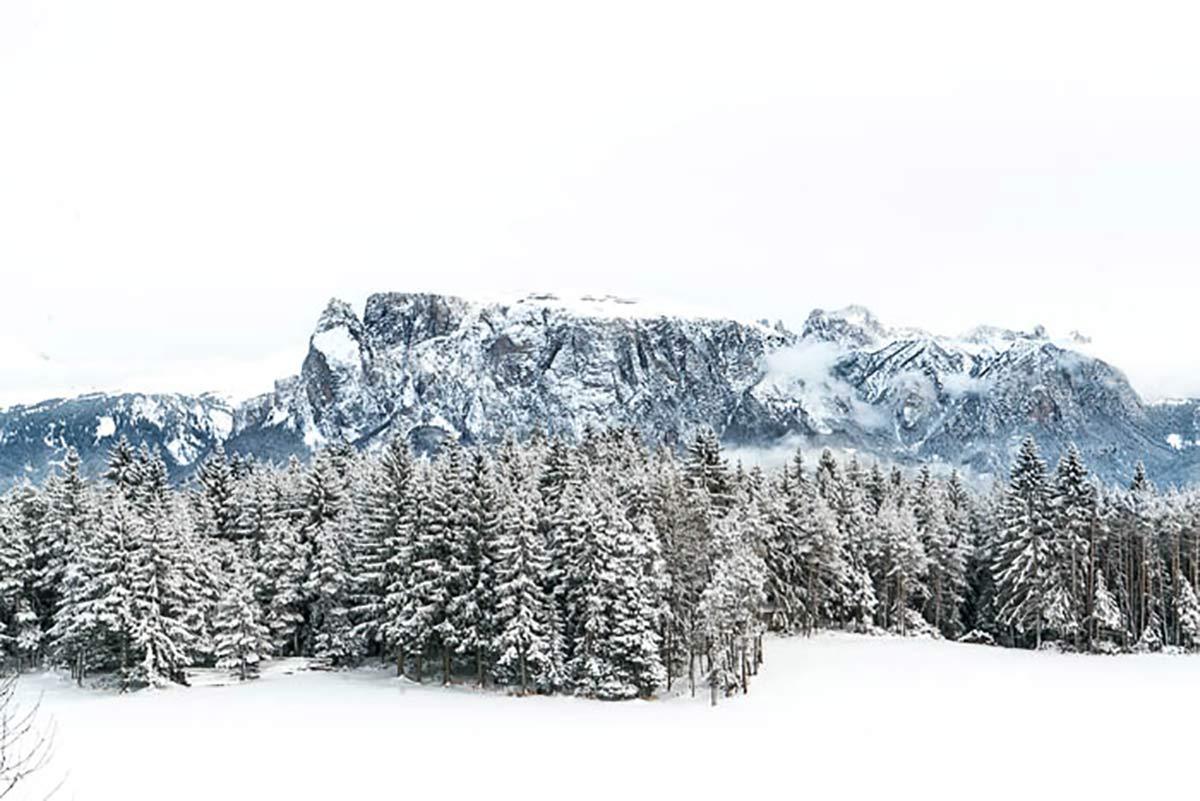 Schlern Winter Südtirol
