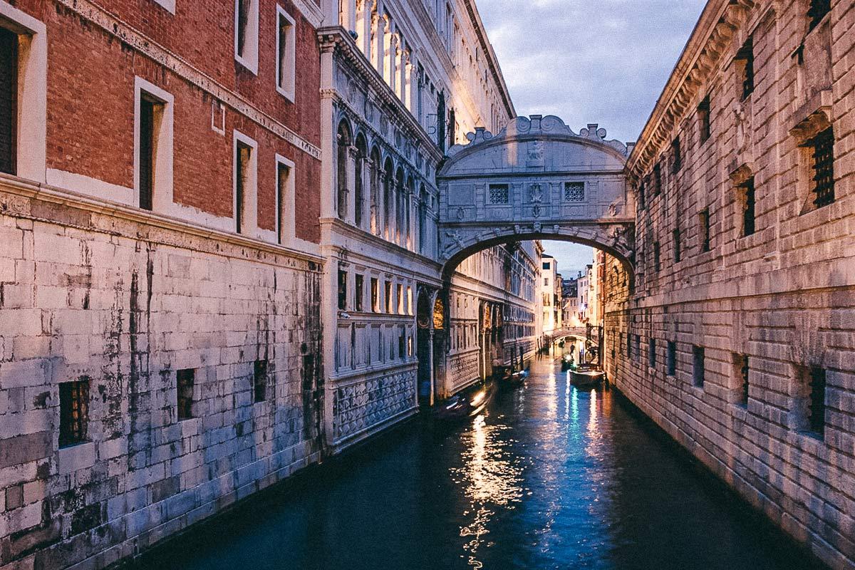 Seufzerbrücke Venedig Norditalien
