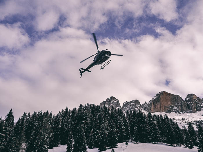 Skigebiet Carezza Heli Flug
