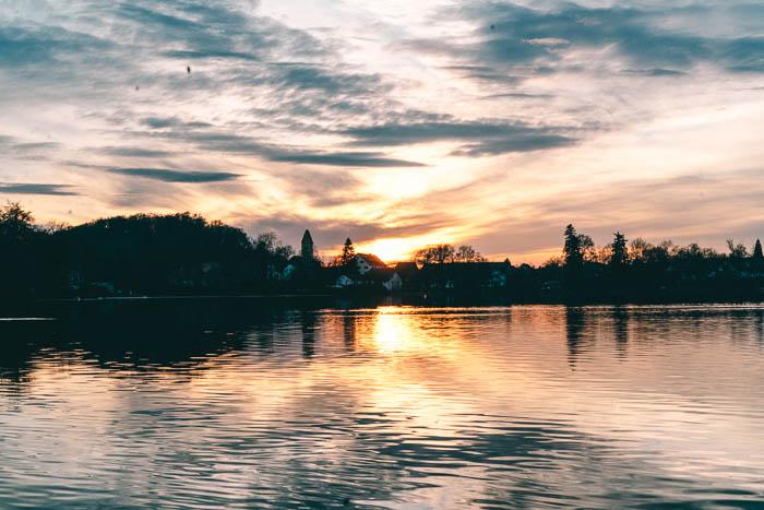 Sonnenuntergang See Weßling