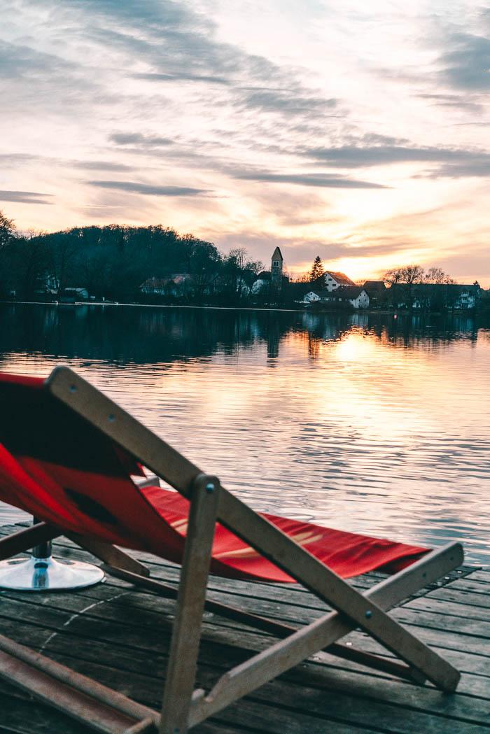 Sonnenuntergang Weßlinger See