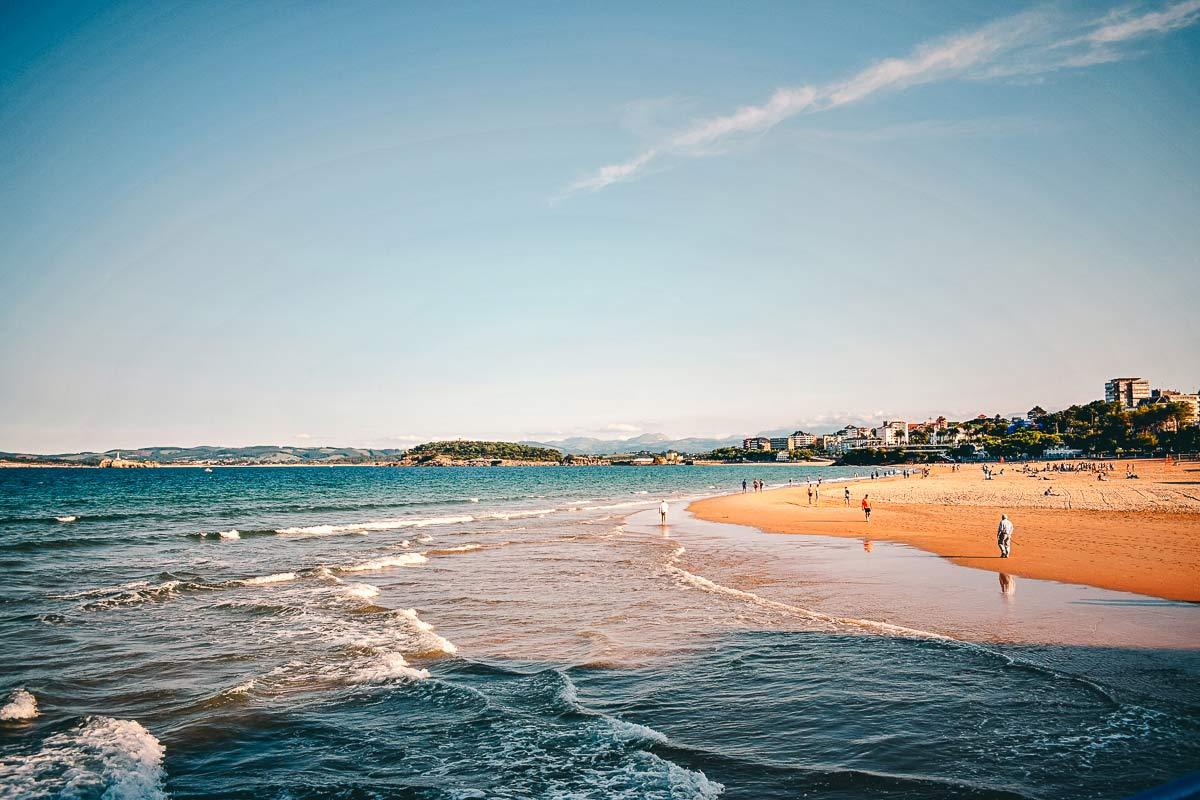 Stadtstrand von Santander