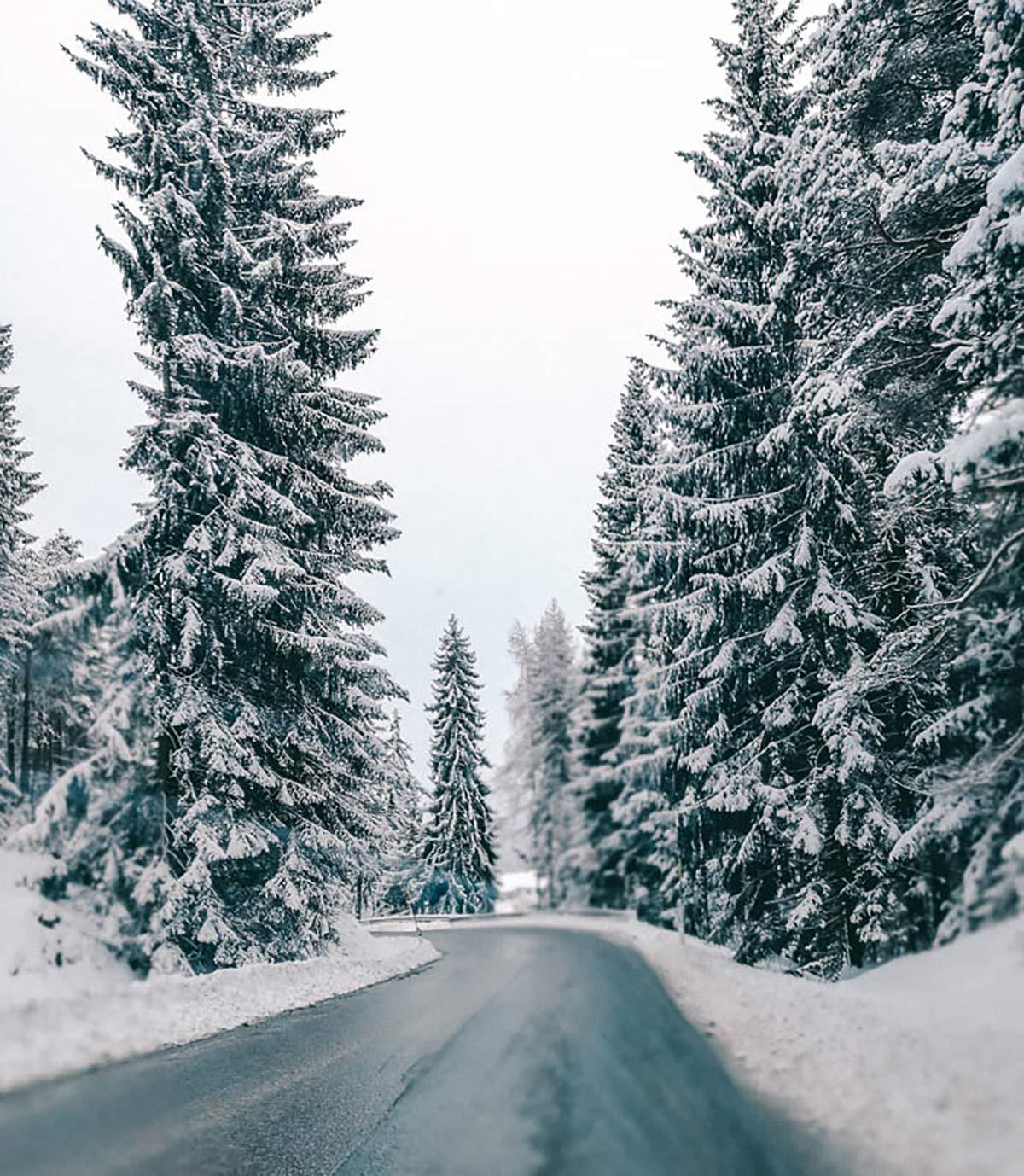 Strasse Schnee