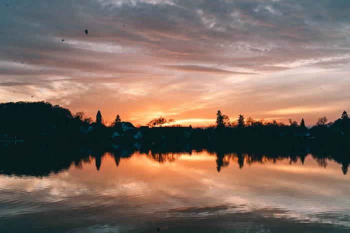 Weßlinger See München Sonnenuntergang