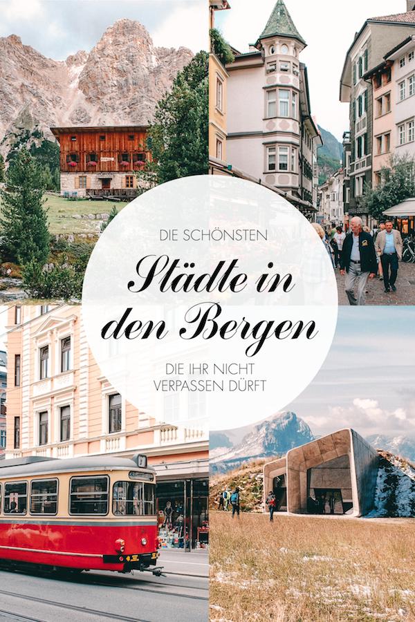 Städte in den Bergen