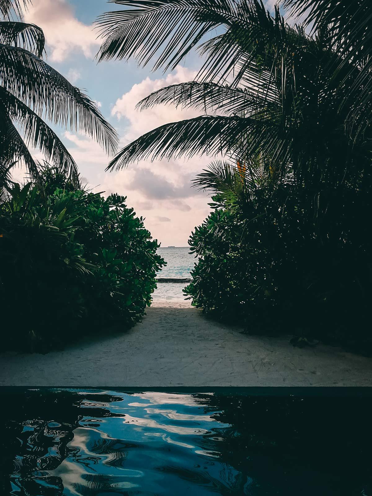 Ausblick Meer Malediven