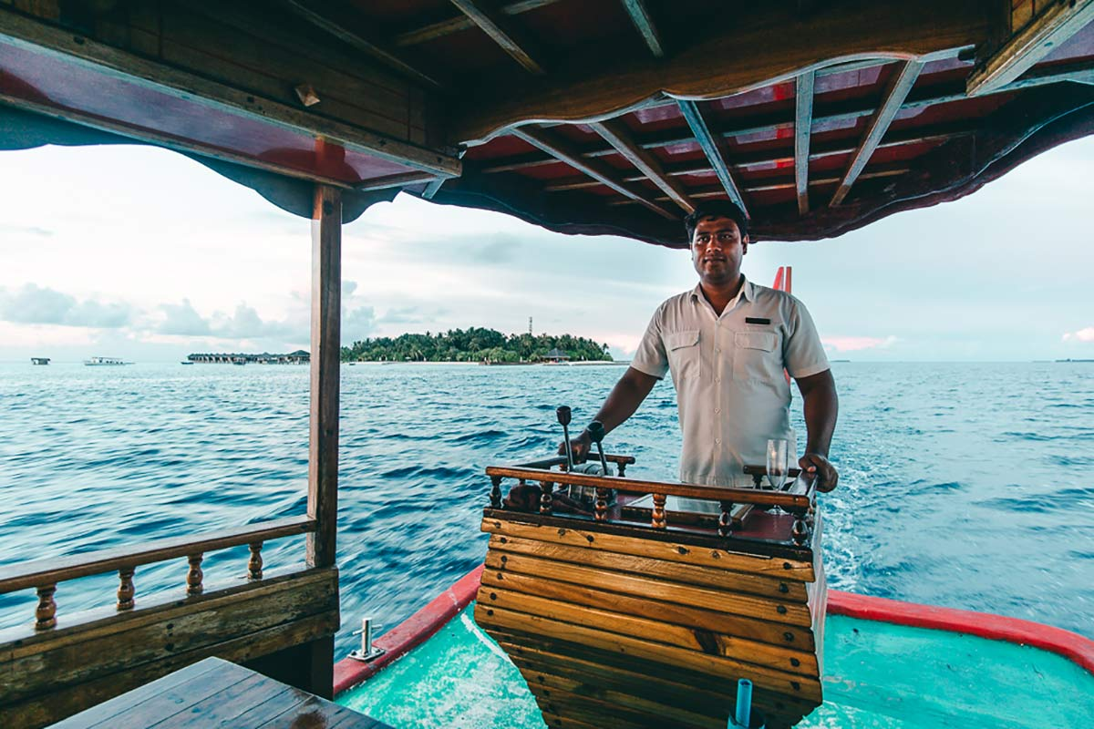 Bootsfahrt Malediven Kapitän